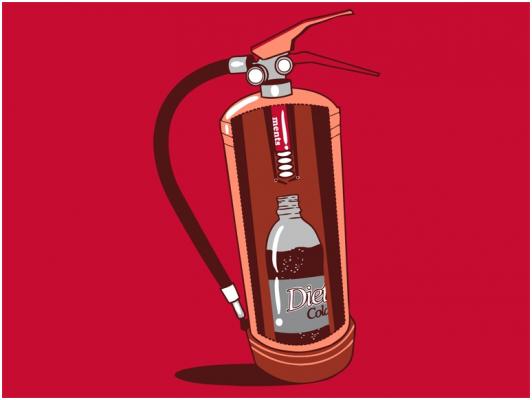 ¿Coca Cola para apagar incendios?